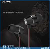 Mobile Accessories USAMS Earphone For iPhone, USAMS Diffuse Sound Series 3.5mm TPE Earphone For Smart Phone PU-009