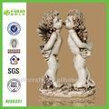 resina de dois beijos angel decoração estátua nua bonecas