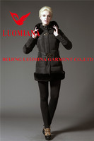 blue color long noble baby pink women down coats