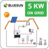 Bluesun cheap design good benefits 5kw grid tie home solar pv power system