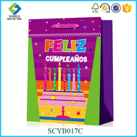 Happy Birthday Candles gift bag brithday paper bag