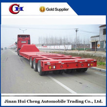 China factory low flatbed semi trailer /low bed semi trailer