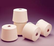 the popular india wholesale the raw white 100%polyester spun yarn 40s pure virgin yarn