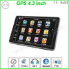 4.3 Inch HD Touch Screen Car GPS Navigation wince 6.0 gps navigation with free map