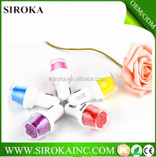 factory price cell phone accessories rose flower DC 3.1mA car charger for cellphone