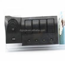 Waterproof Rocker Switch New Waterproof White 8 Gang Marine Boat Caravan Blue LED Rocker Switch Panel