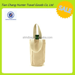 personalised single bottle organic cotton bags wholesale cotton wine bag made in China