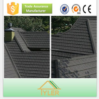 Hail resistance color stone chip coated metal roof tile