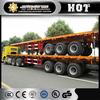 hot sale 40ft flatbed trailer lowboy semi trailer 40t low bed trailer