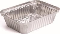 "7.5""L x 5.5""W x 2""D aluminum foil container for household"
