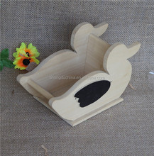 Natural unfinished decor craft craved wood standing ducks