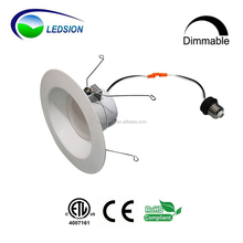 High Quality ETL 5-100% DIMMABLE 8 inch square led retrofit recessed downlight