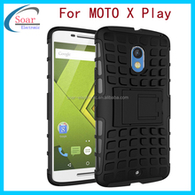 Hot selling mobile phone accessories shockproof cover case for moto x play,for Motorola moto x play hybrid case