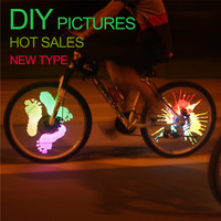 Bicycle accessories DIY colorful alloy bike wheel light