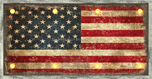 The Stars and Stripes Forever LED canvas wall art decor