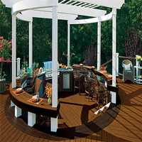 Composite Wood wpc interlocking tiles decking board