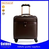 China wholesale men's business17inch PU leather travel luggage bag