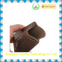 cowhide geunine leather mobile phone pouch for iphone pouch case