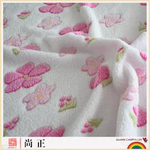 2015 hot sale of home textile fleece fabric coral printing sherpa fabric flower print fleece