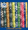 Gradient weave pu leather material for shoe/bag/handbag/women wallet fashion style