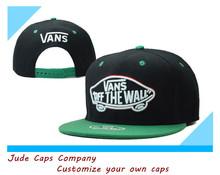 alibaba two tone vans off the wall custom logo snapback cap