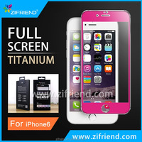 Factory supply Titanium Alloy Tempered Glass Screen Protector for apple iPhone 6s plus