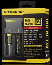 Authorized distributor nitecore i2 aa aaa nimh nicd battery charger I2 I4/D4/D2 I2 for 18650 battery