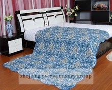 BLUE cotton printed quilts