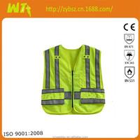 hot 100% polyester EN20471 Class 2 reflecting vest reflective safety vest