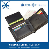 Popular high quality aluma leather wallet case, pocket handmade leather purses with many card slots