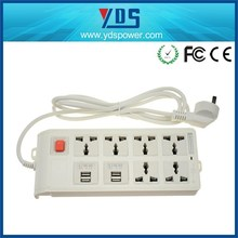 Portable Multi Plugs USB Charging Extension Board Power Strip Socket Board with Switch 6 outlets+4 USB charging ports
