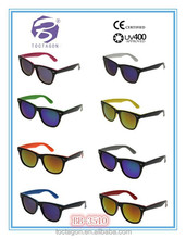 2015 free sample new fashion cheap plastic colorful custom logo printed lenses promotional sunglasses for unisex