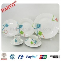 European Style Living High Quality Ceramic Tableware / Home Decor Daily Use Dinnerware Sets /42pc Porcelain Dinner Set