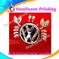 high quality hot sale self adhesive vw logo car sticker
