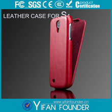 For Samsung Galaxy S4 Black Leather Pouch Mobile Phone Cover