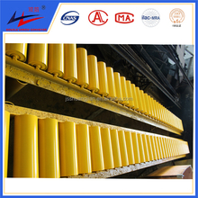 Conveyor carrier transition idler rollers