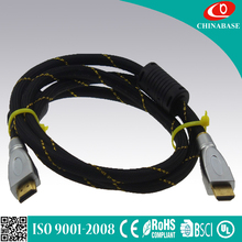 Support 3D, ethernet 1080P gold plated,metal shell high quality hdmi to hdmi cable 1.4v hdmi cable