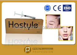 1ml hyaluronic aicd cross linked dermal filler with lidocaine for facial rid of wrinlles