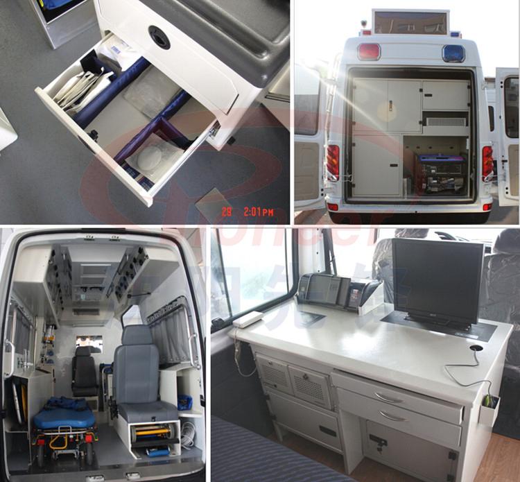 ambulance interior convertinglockerdesk for car