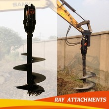 ground hole drilling machines/hydraulic earth auger drill attachment for excavator