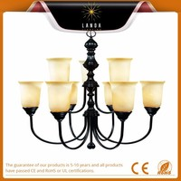 English bronze painted metal glass shade 2 tier up lighting chandelier lighting for decoration