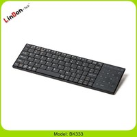 Popular OEM Wireless Slim Bluetooth Keyboard with touchpad with high quality BK333