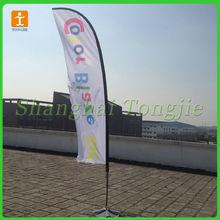 de fibra de vidrio pluma de la bandera de la bandera