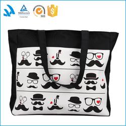hot sale cotton plain canvas tote shopping bag Handled Style latest fashion women bags