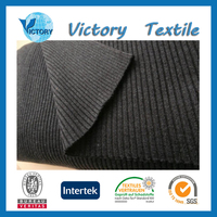 Plain Dyed Tube Cotton Rib Knitted Fabric