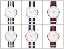 2015 new style cutomized colors nato nylon strap quartz vogue watches for women or man