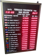 Currency Exchange Rate Display Board - 16 Countries