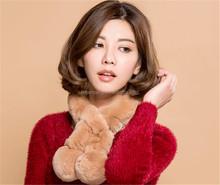 rabbit fur bolero/fashion imitation fur collar/2012 new design faux fur scarf trapper winter hat with gloves paws