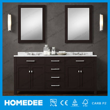 2015 hot sale 72'' curved bathroom vanity double mirror made in china
