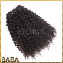 Unprocessed Afro Kinky Human Hair Full Cutical Tangle Crazy Hair For Party New Hair Style